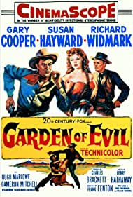 Gary Cooper, Susan Hayward, and Richard Widmark in Garden of Evil (1954)