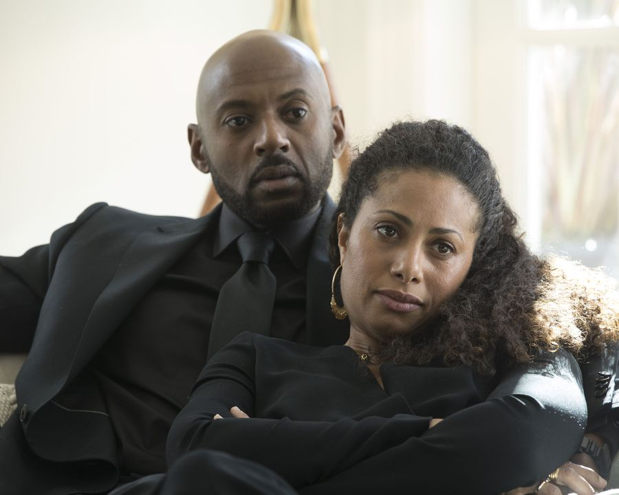 Romany Malco and Christina Marie Moses in A Million Little Things (2018)
