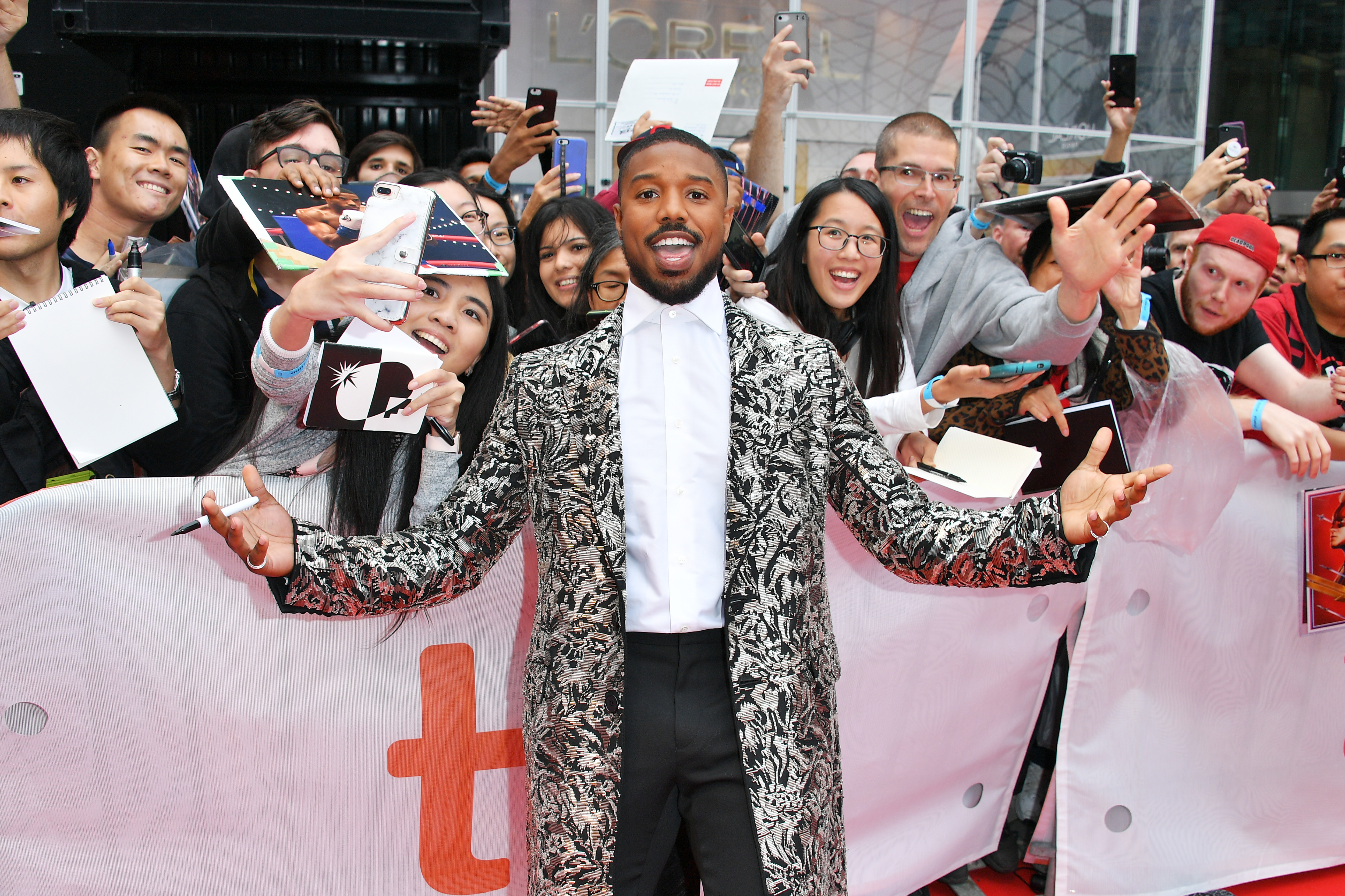 Michael B. Jordan at an event for Just Mercy (2019)