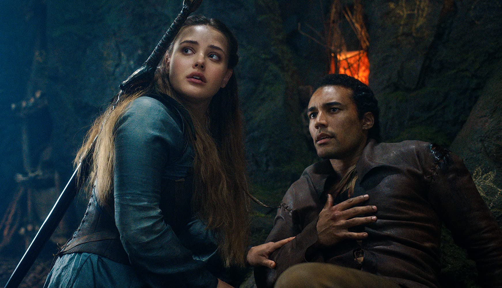 Devon Terrell and Katherine Langford in Cursed (2020)