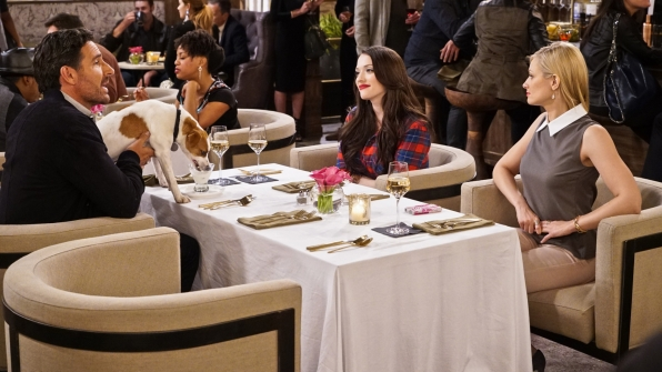 Ed Quinn, Kat Dennings, and Beth Behrs in 2 Broke Girls (2011)