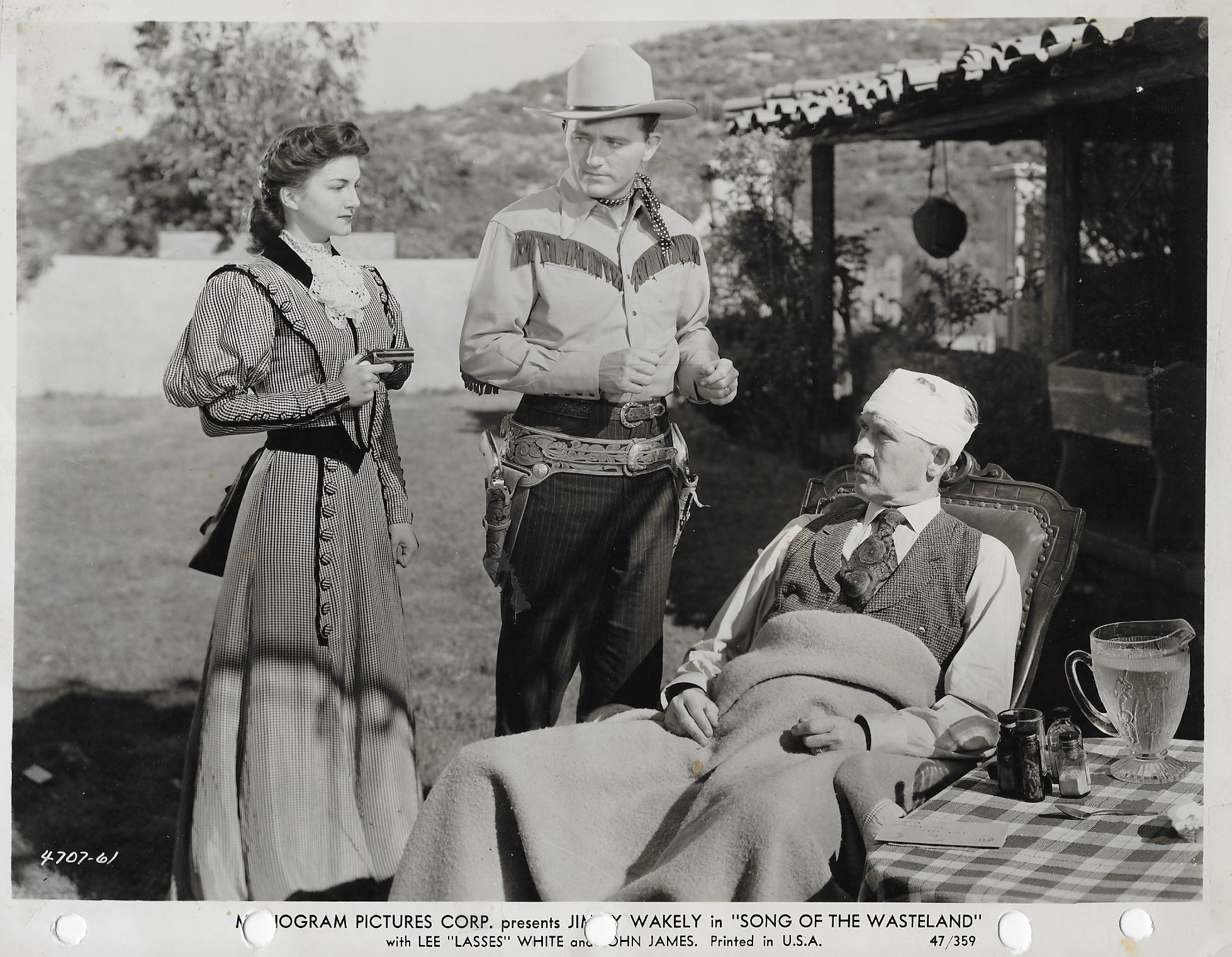 Dottye Brown, Henry Hall, and Jimmy Wakely in Song of the Wasteland (1947)