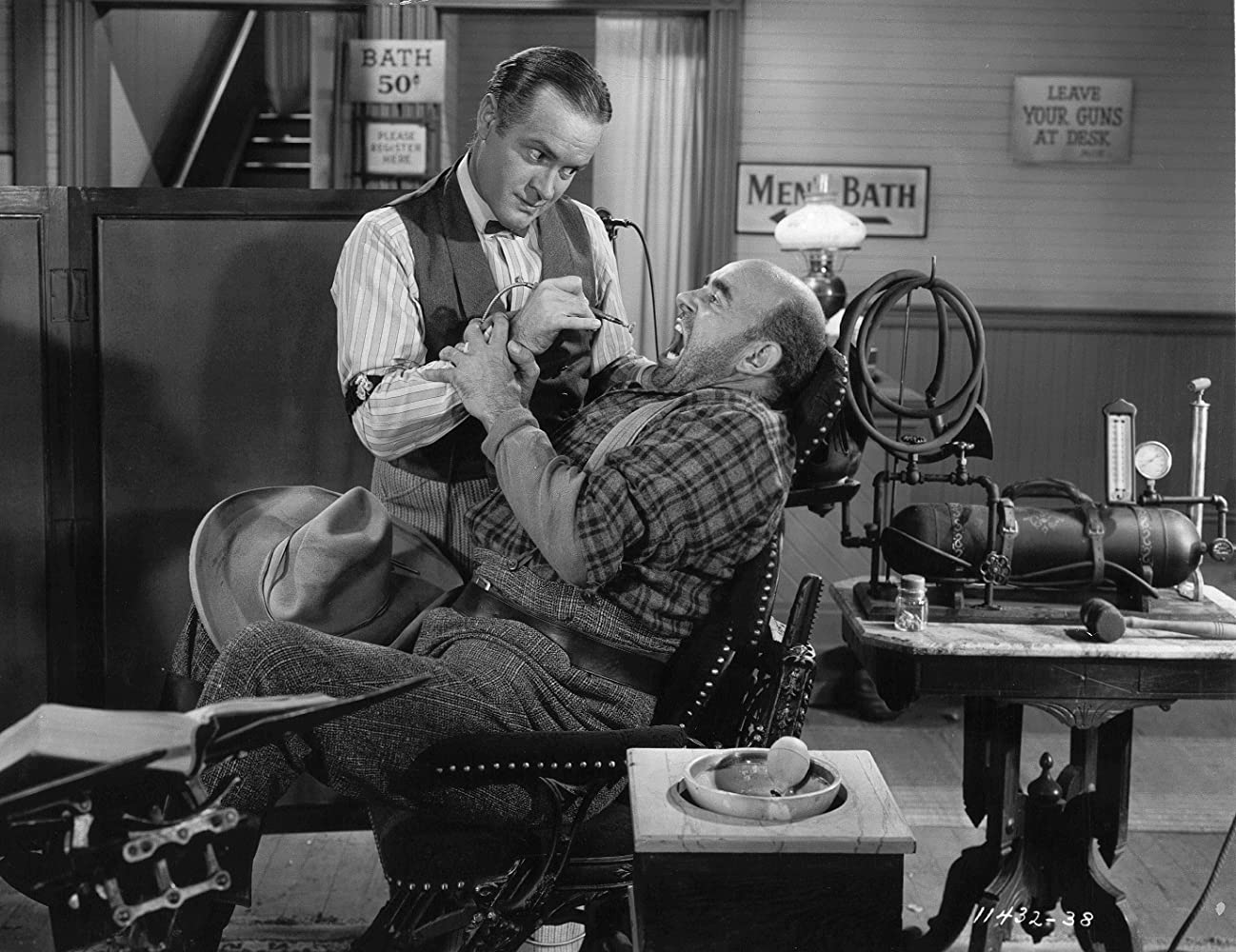 Bob Hope and Nestor Paiva in The Paleface (1948)