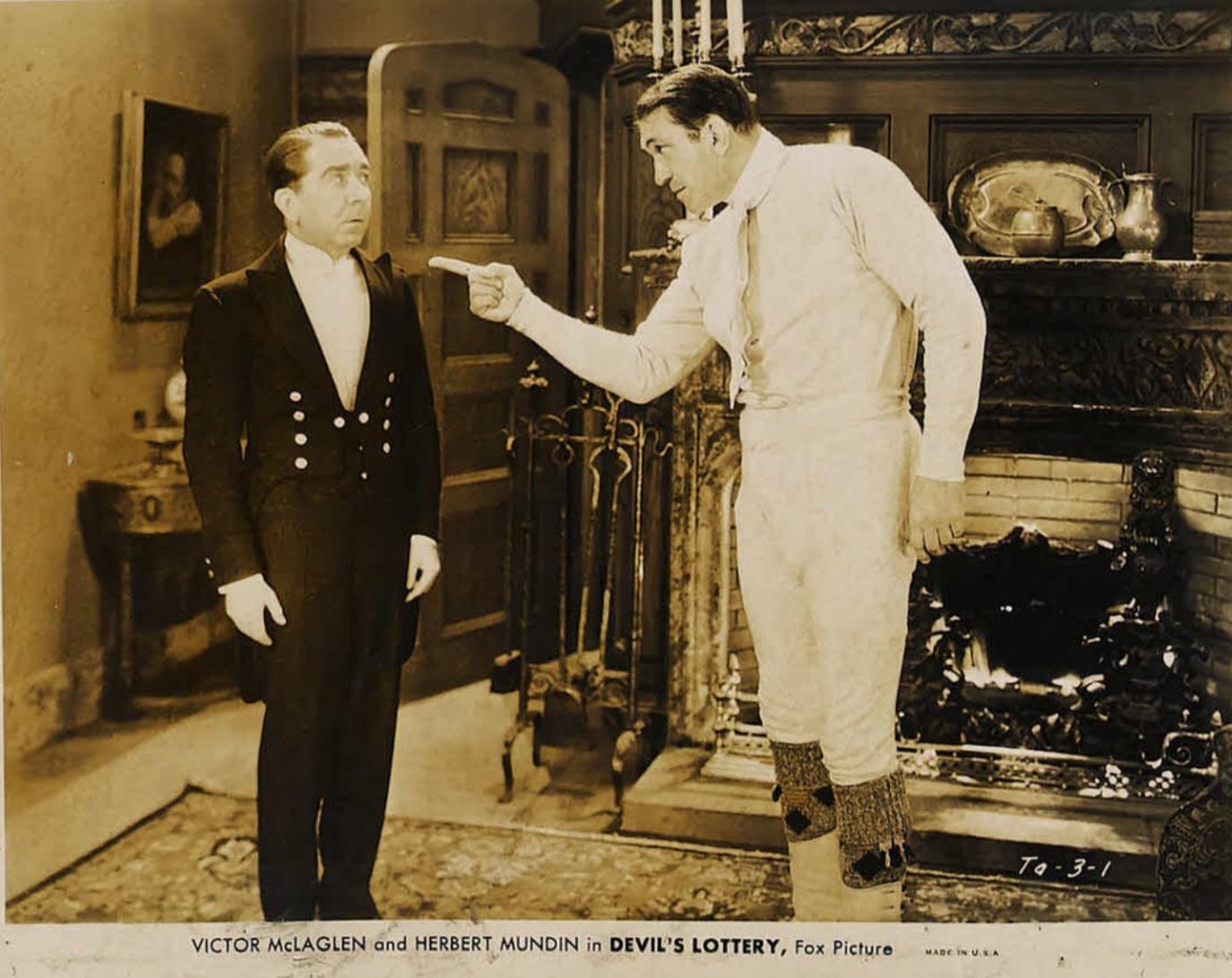 Victor McLaglen and Herbert Mundin in Devil's Lottery (1932)