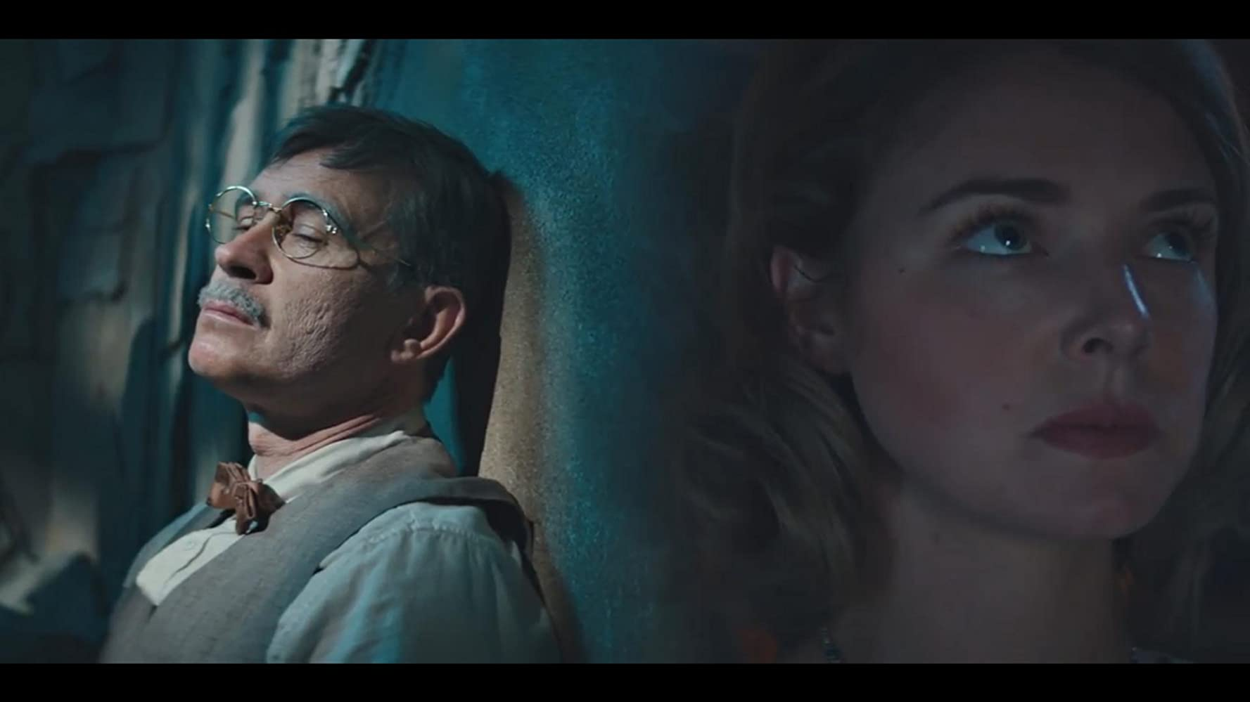 Connor Trinneer and Ellie Gall in Stargate Origins (2018)