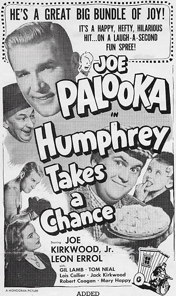 Lois Collier, Robert Coogan, Leon Errol, and Joe Kirkwood Jr. in Joe Palooka in Humphrey Takes a Chance (1950)