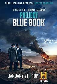 Aidan Gillen and Michael Malarkey in Project Blue Book (2019)