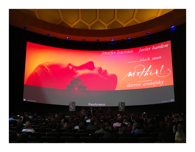 Darren Aronofsky, Scott Franklin, Ari Handel, and Jennifer Lawrence at an event for Mother! (2017)