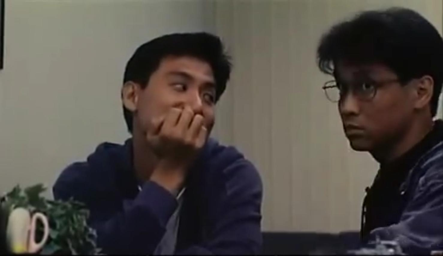 Jacky Cheung and Wei Tung in San cheung sau yue ga lei gai (1992)