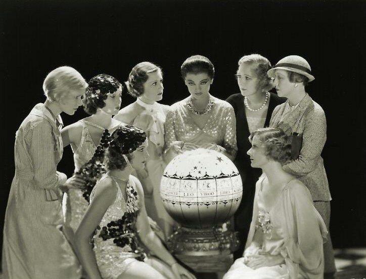 Myrna Loy, Irene Dunne, Phyllis Fraser, Mary Duncan, Peg Entwistle, Jill Esmond, Betty Furness, Harriet Hagman, Julie Haydon, and Kay Johnson in Thirteen Women (1932)