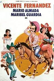 Mario Almada, Rosario Escobar, Vicente Fernández, and Maribel Guardia in El cuatrero (1989)