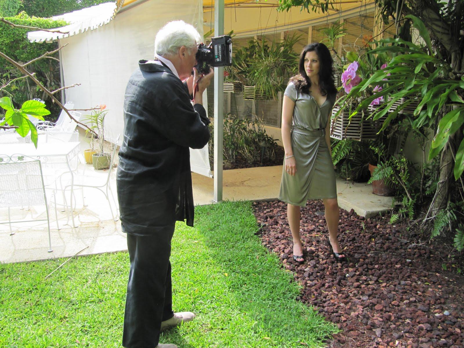 Harry Benson shooting Kathryn Weisbeck