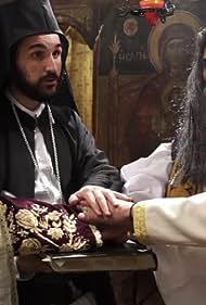 Theodoros Kolovos and Leonardo Thimo in Pou sai more Nikitara (2021)