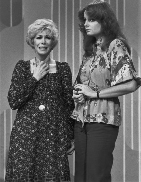 Joan Rivers and Claire Faulconbridge in Laugh-In (1977)