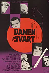 Anita Björk, Annalisa Ericson, Lena Granhagen, Nils Hallberg, Karl-Arne Holmsten, and Sven Lindberg in Damen i svart (1958)