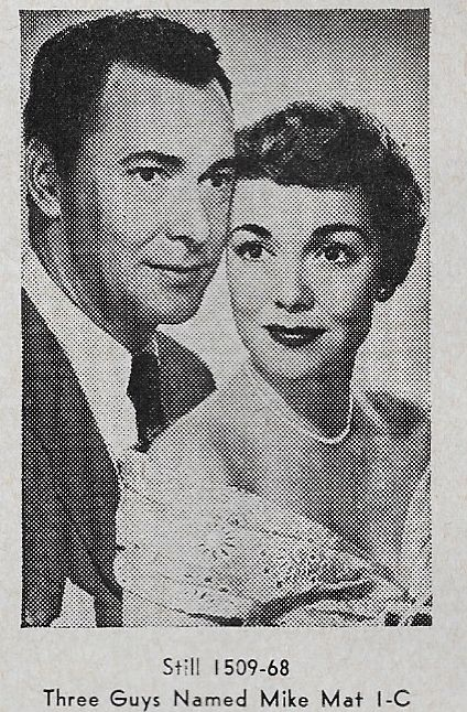 Barry Sullivan and Jane Wyman in Three Guys Named Mike (1951)
