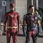 Nick Zano, Stephen Amell, Caity Lotz, and Grant Gustin in Legends of Tomorrow (2016)