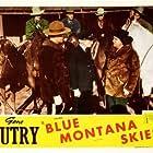 Smiley Burnette, Allan Cavan, Rusty Cline, Robert Hoag, Ted Mapes, Walt Shrum and His Colorado Hillbillies, Ace Dehne, and Tony Fiore in Blue Montana Skies (1939)