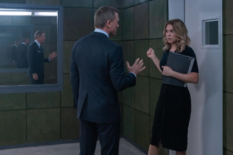 Daniel Craig and Léa Seydoux in No Time to Die (2021)