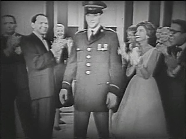 Elvis Presley, Frank Sinatra, and Nancy Sinatra in The Frank Sinatra Show (1957)