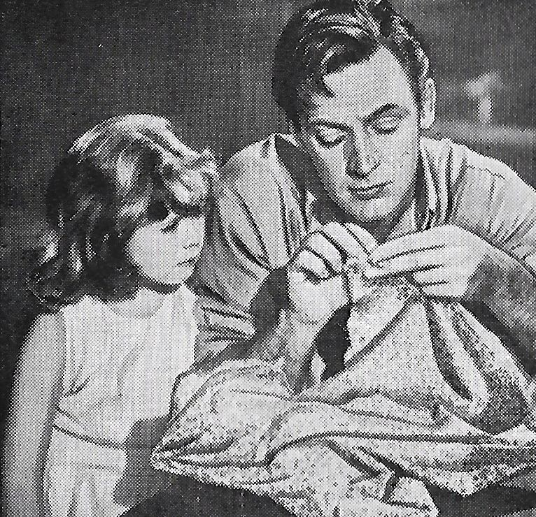 William Holden and Mary Jane Saunders in Father Is a Bachelor 1950