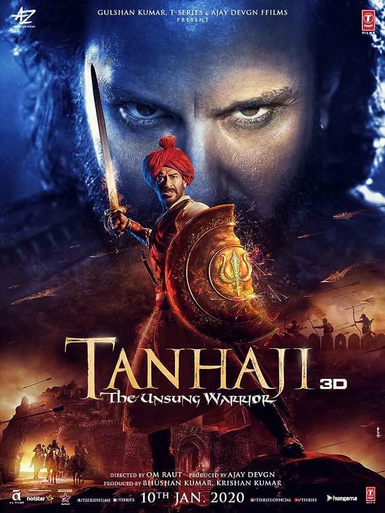 Ajay Devgn and Saif Ali Khan in Tanhaji: The Unsung Warrior (2020)