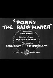 Porky the Rain-Maker Poster