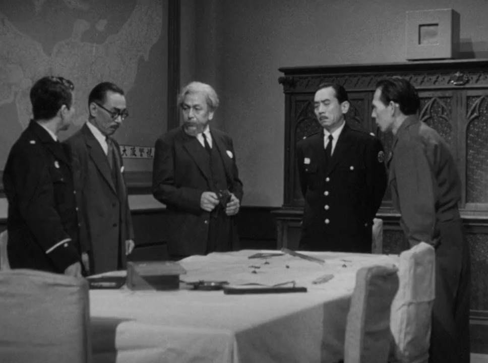 Takeo Oikawa, Keiji Sakakida, Masao Shimizu, and Minosuke Yamada in Gojira no gyakushû (1955)