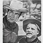 Randolph Scott and Wallace Ford in Coroner Creek (1948)