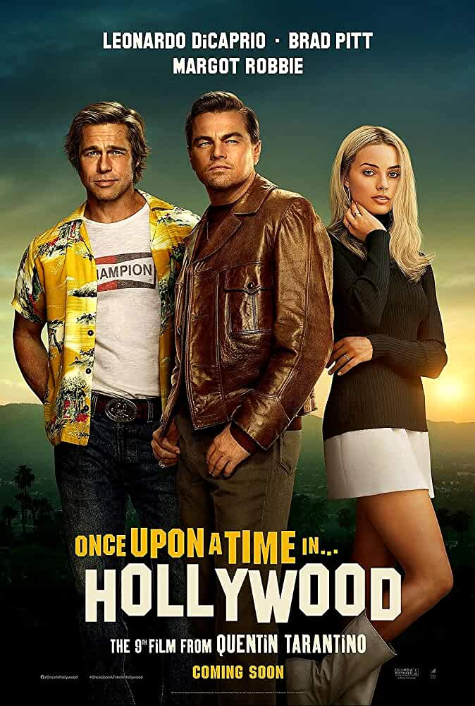 Brad Pitt, Leonardo DiCaprio, and Margot Robbie in Once Upon a Time... in Hollywood (2019)