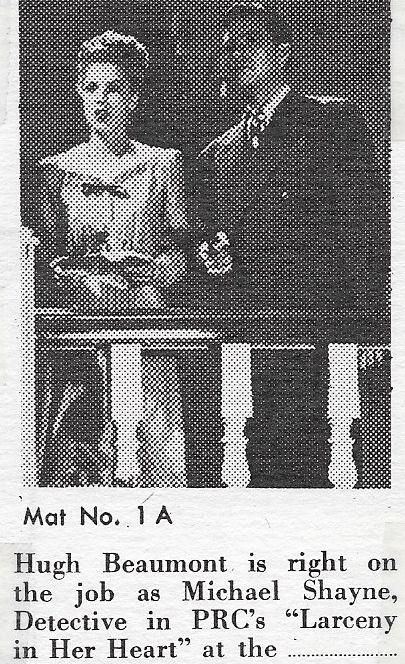 Hugh Beaumont in Larceny in Her Heart (1946)