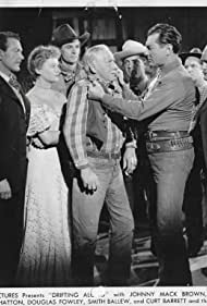 Lynton Brent, Johnny Mack Brown, Lynne Carver, Steve Clark, Douglas Fowley, Terry Frost, Raymond Hatton, Beverly Jons, Ted Mapes, Tom Quinn, and Jack Rockwell in Drifting Along (1946)
