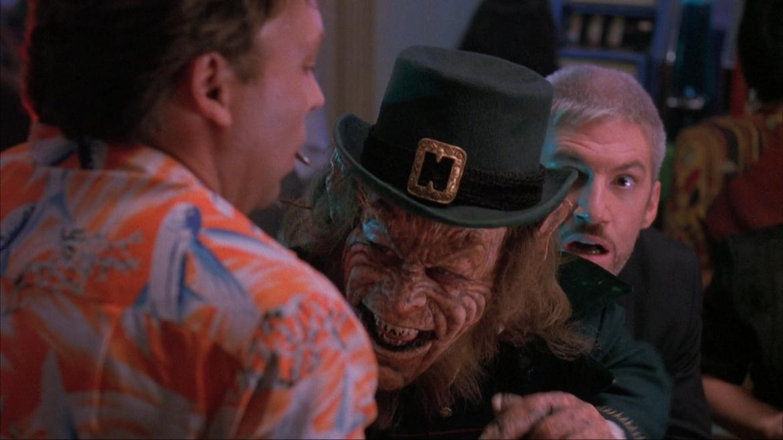 Warwick Davis, Tom Dugan, and Roger Hewlett in Leprechaun 3 (1995)