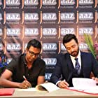 Shakib Khan and Abdul Aziz at an event for Nabab (2017)