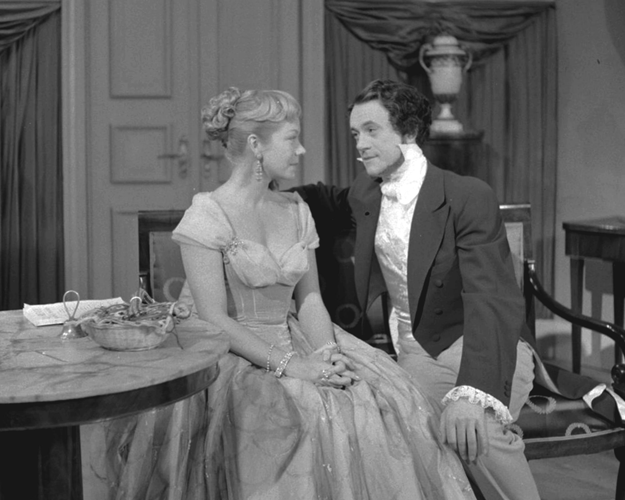 Lisbeth Movin and Bendt Rothe in En caprice (1955)