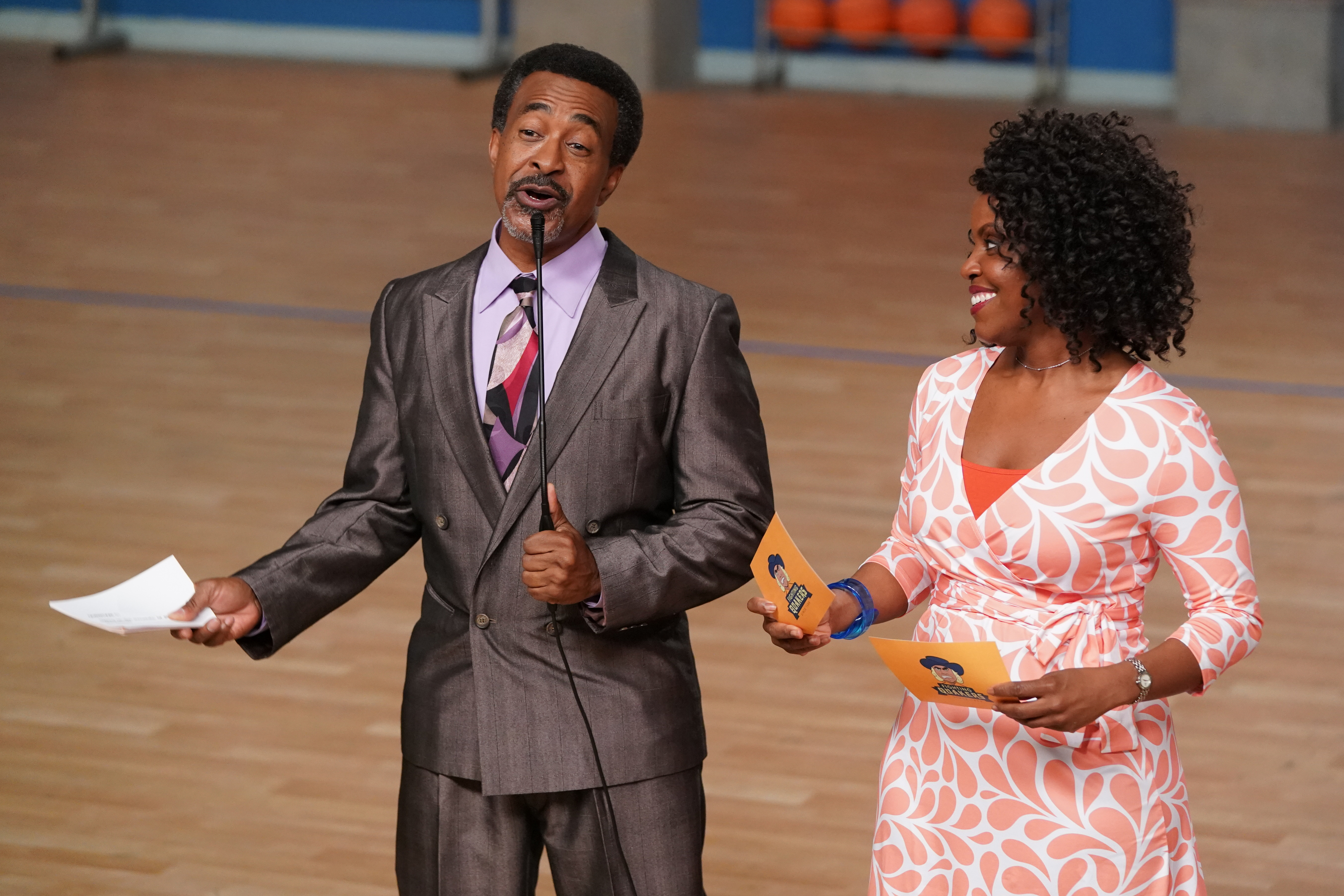 Tim Meadows and Haneefah Wood in Singled Out (2020)
