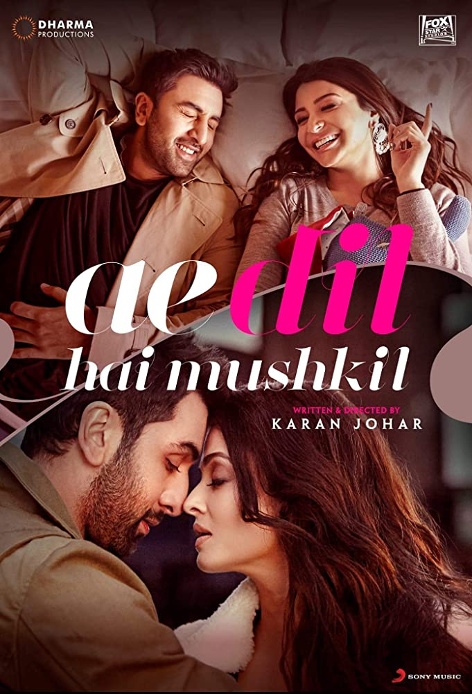 Ae Dil Hai Mushkil 2016 Hindi Movie BluRay 400mb 480p 1.4GB 720p 5GB 12GB 14GB 1080p