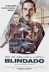Luciano Cáceres, Aline Jones, and Gabriel Peralta in Blindado (2019)