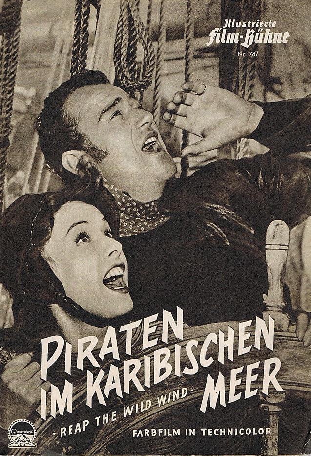 John Wayne and Paulette Goddard in Reap the Wild Wind (1942)