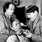 Moe Howard, Larry Fine, and Curly Howard in I Can Hardly Wait (1943)