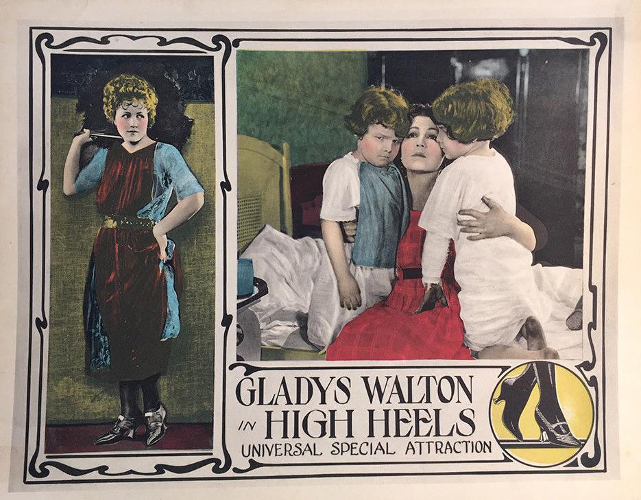 Charles De Briac, Raymond De Briac, and Gladys Walton in High Heels (1921)