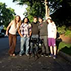"""(L-R) Azmyth Kaminski, Emilio Rossal, Doug Maguire, John Scalco and Tristan Reed-Scalco on location for """"Bank Roll"""" in 2012."""