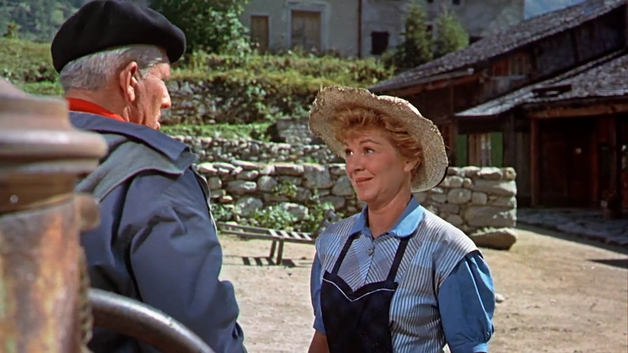 Spencer Tracy and Claire Trevor in The Mountain (1956)