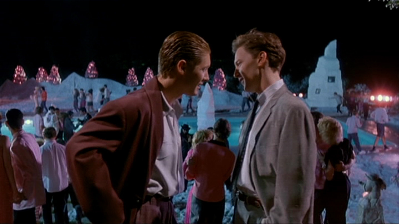 Andrew McCarthy and James Spader in Less Than Zero (1987)