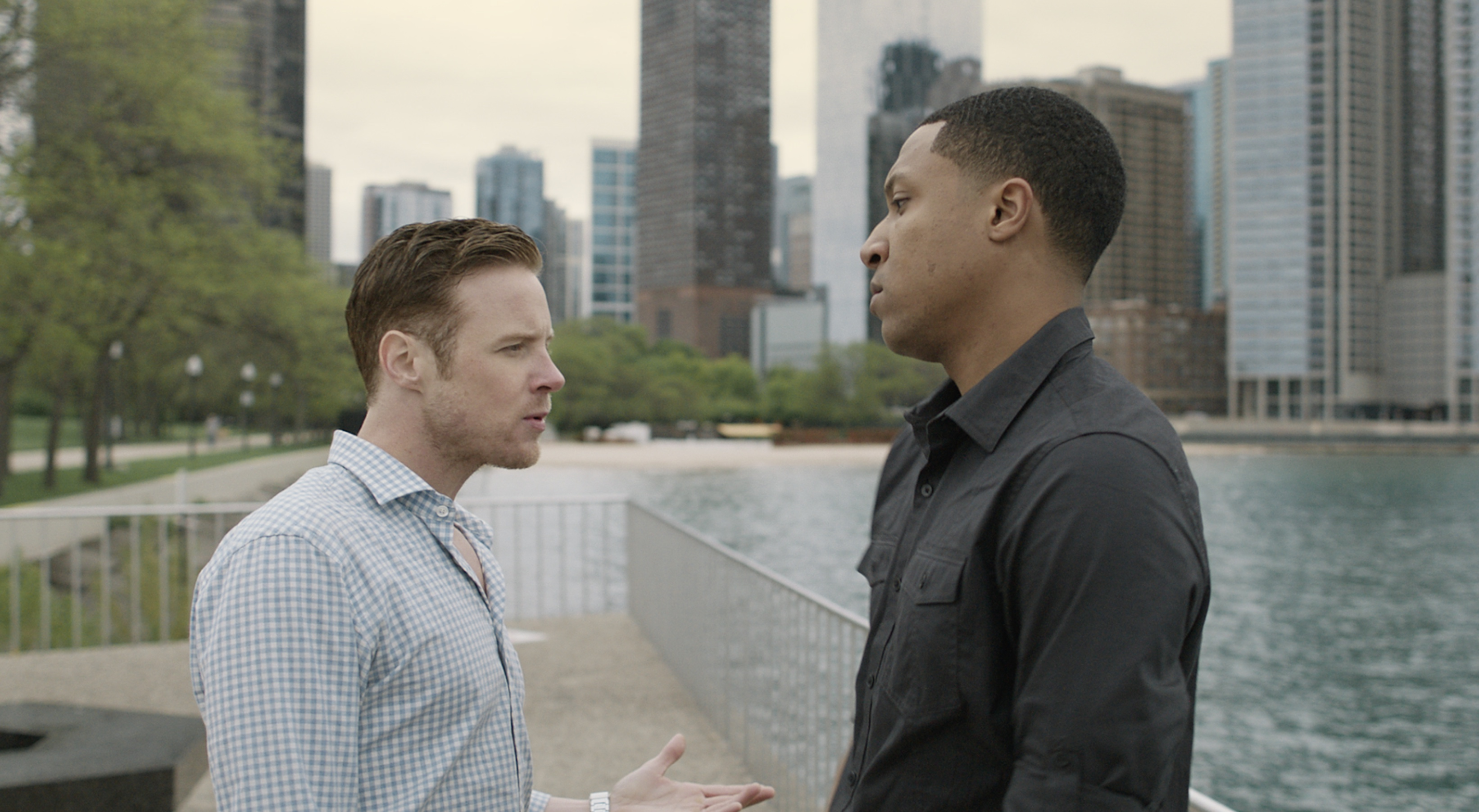 Ashton Holmes and Jerry MacKinnon in Imperfections (2018)