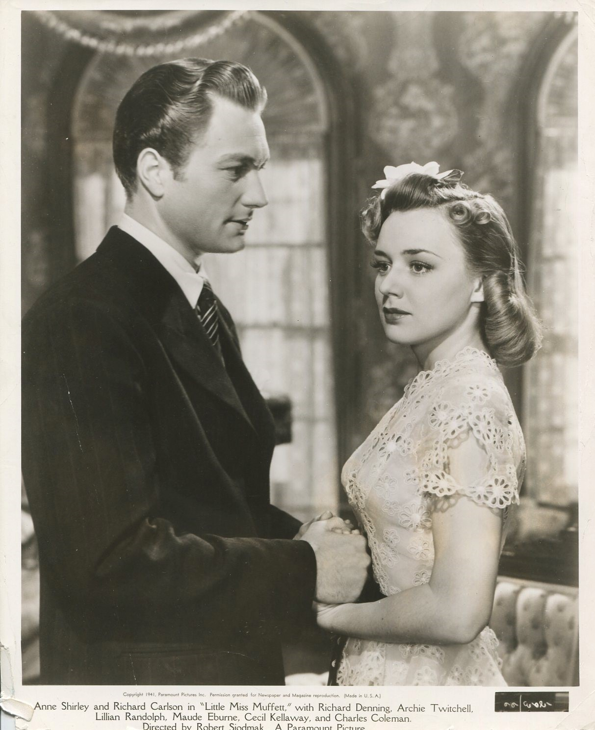 Richard Denning and Anne Shirley in West Point Widow (1941)