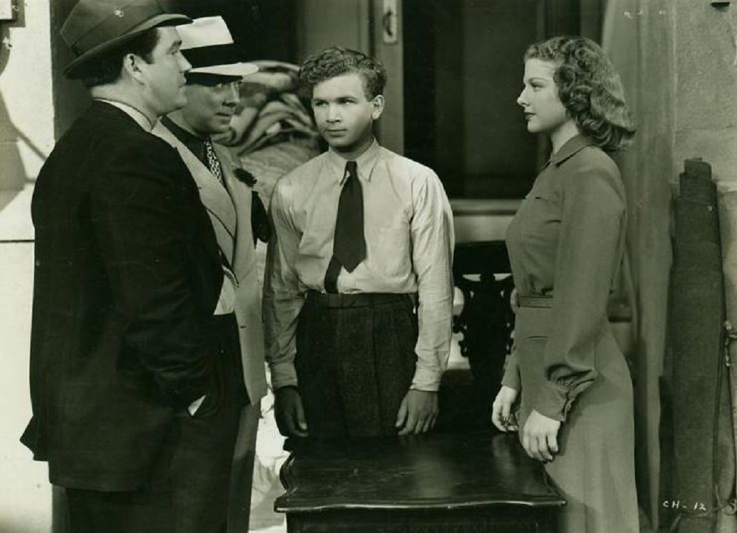 Eduardo Ciannelli, Bernard Nedell, Ann Sheridan, and Frankie Thomas in Angels Wash Their Faces (1939)