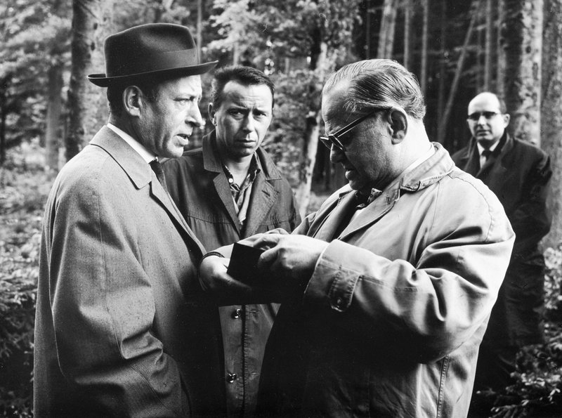 Siegurd Fitzek, Konrad Georg, and Willy Krüger in Kommissar Freytag (1963)