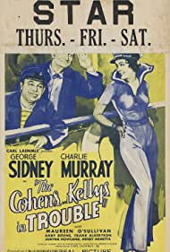 Maureen O'Sullivan, Charles Murray, and George Sidney in The Cohens and Kellys in Trouble (1933)