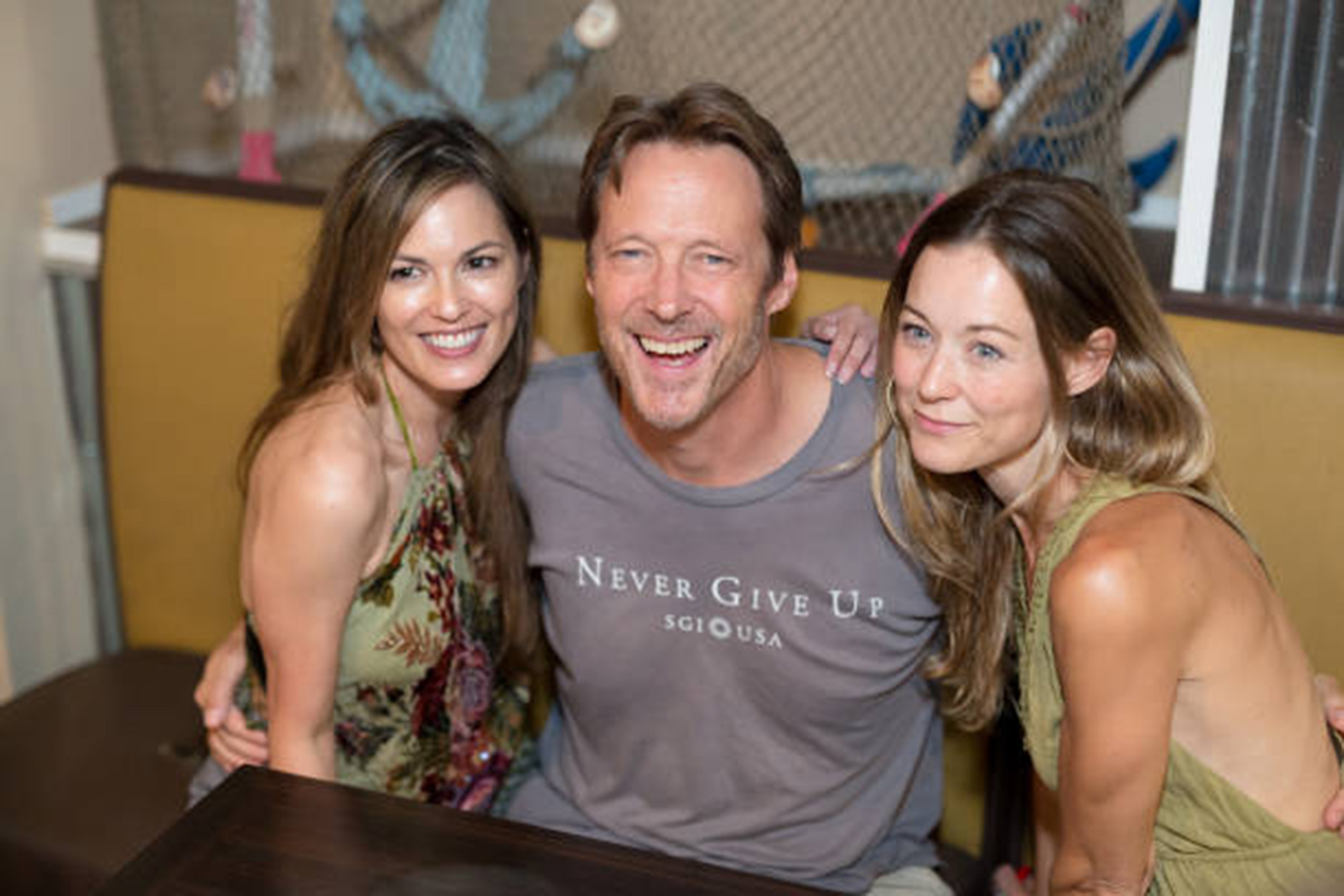 Terri Ivens with Matthew Ashford and Taylor Stanley - The Bay Fan Appreciation Event July 27, 2018